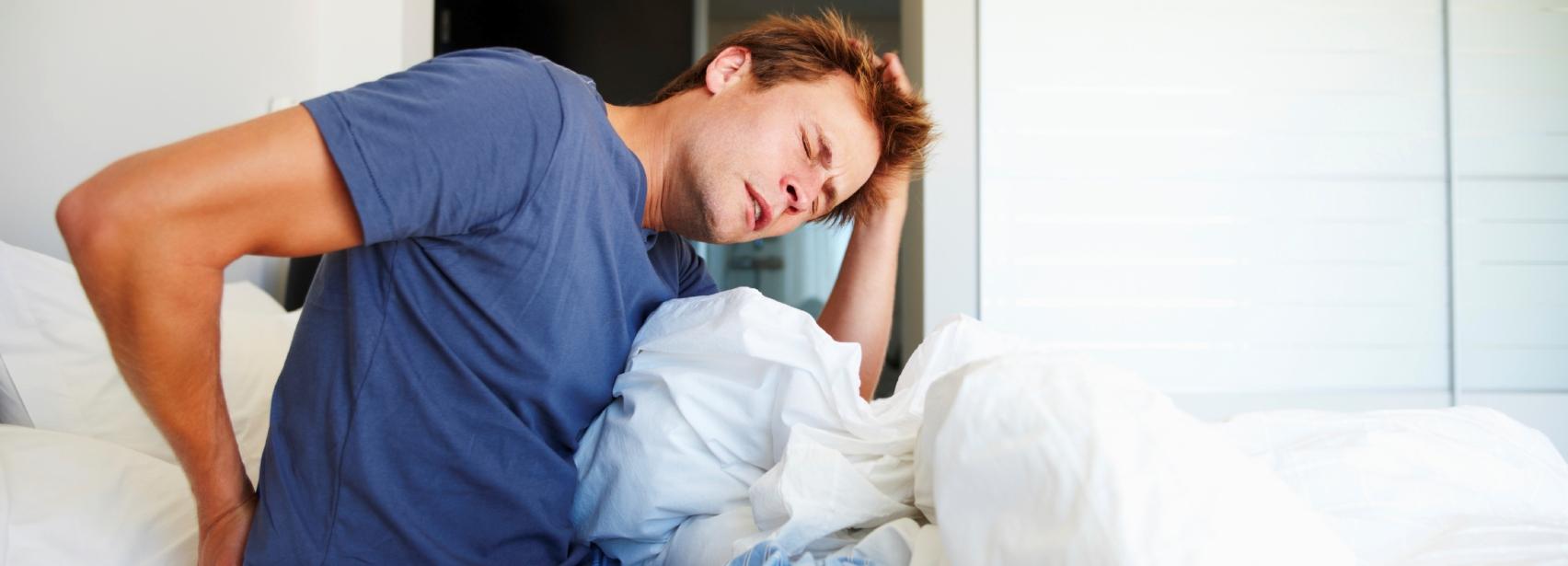 Back pain after sleep