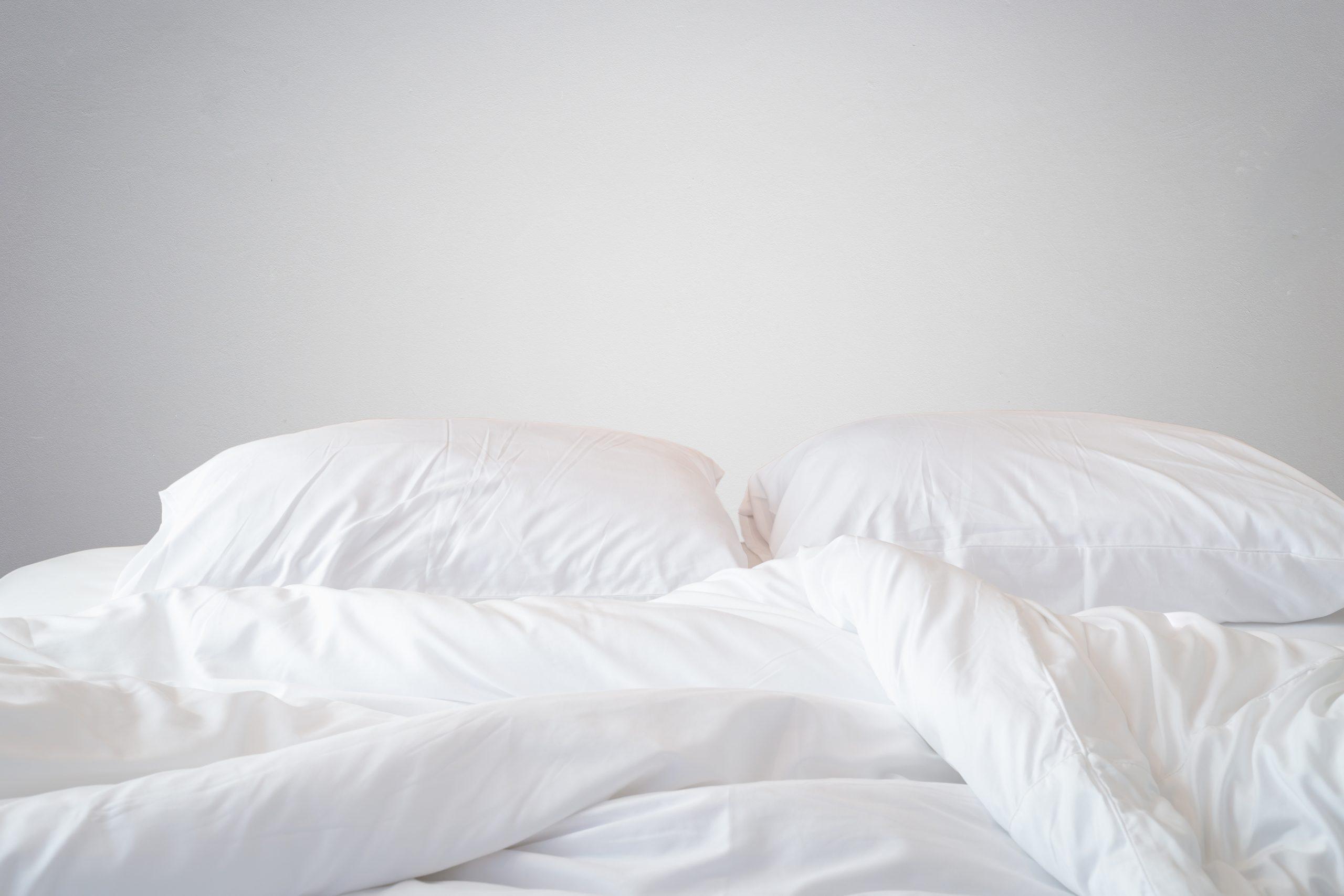 fresh clean white sheets