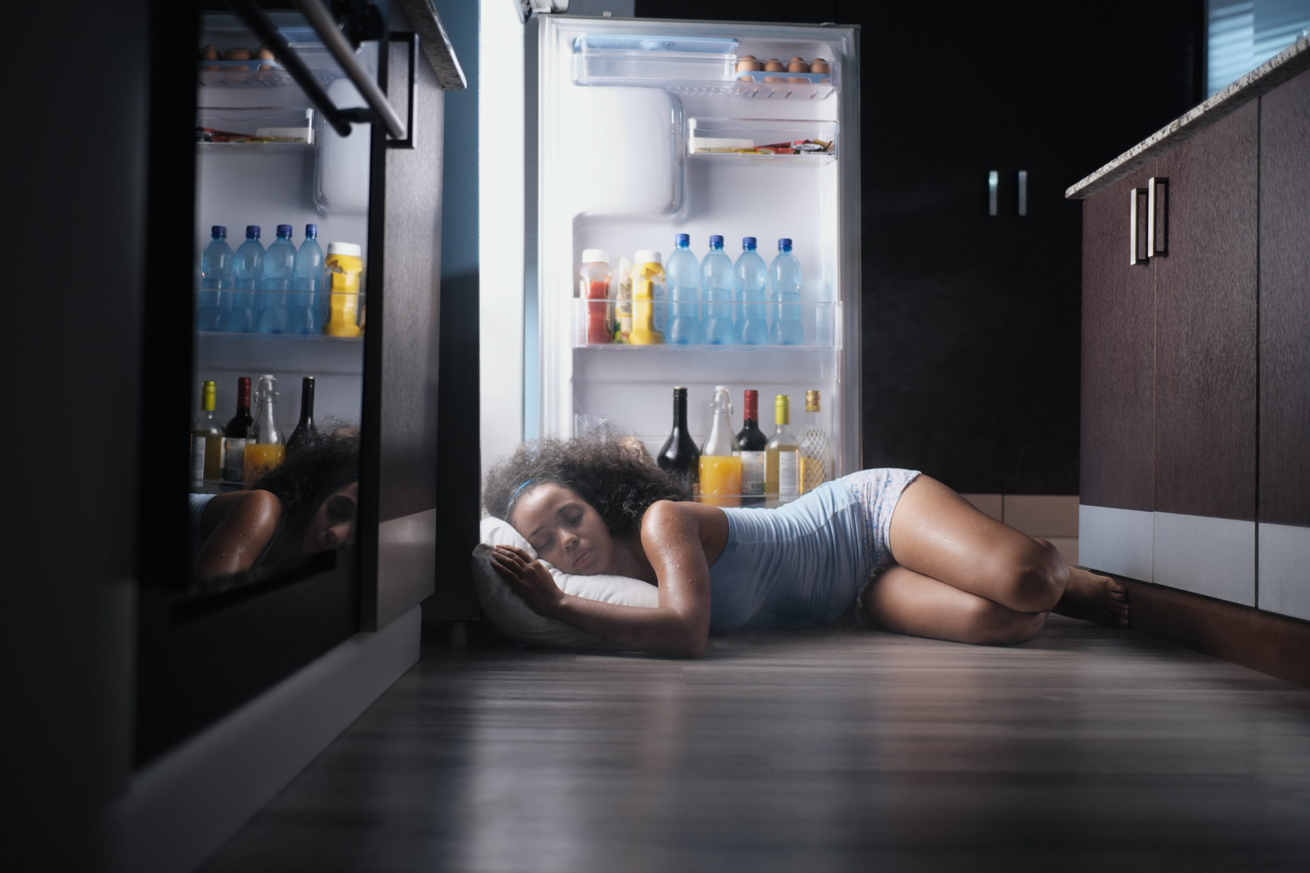 Hot sleeper in fridge