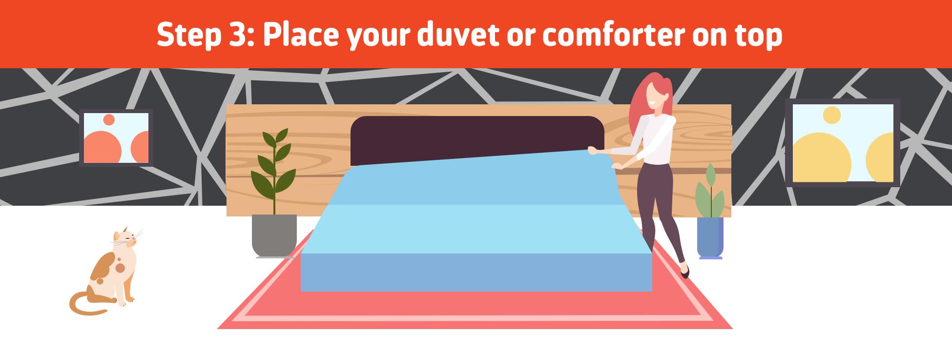 comforter or duvet over your sheet