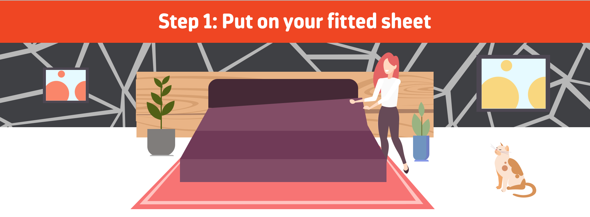 Put on your fitted sheet