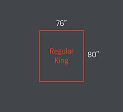 Regular King bed size