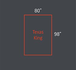 Texas king bed size