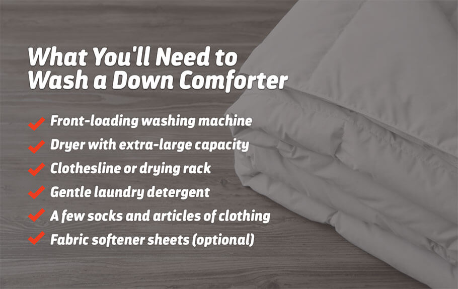 what you need to wash a comforter